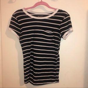 Arizona Jean Co. Black and White Strips T-Shirt